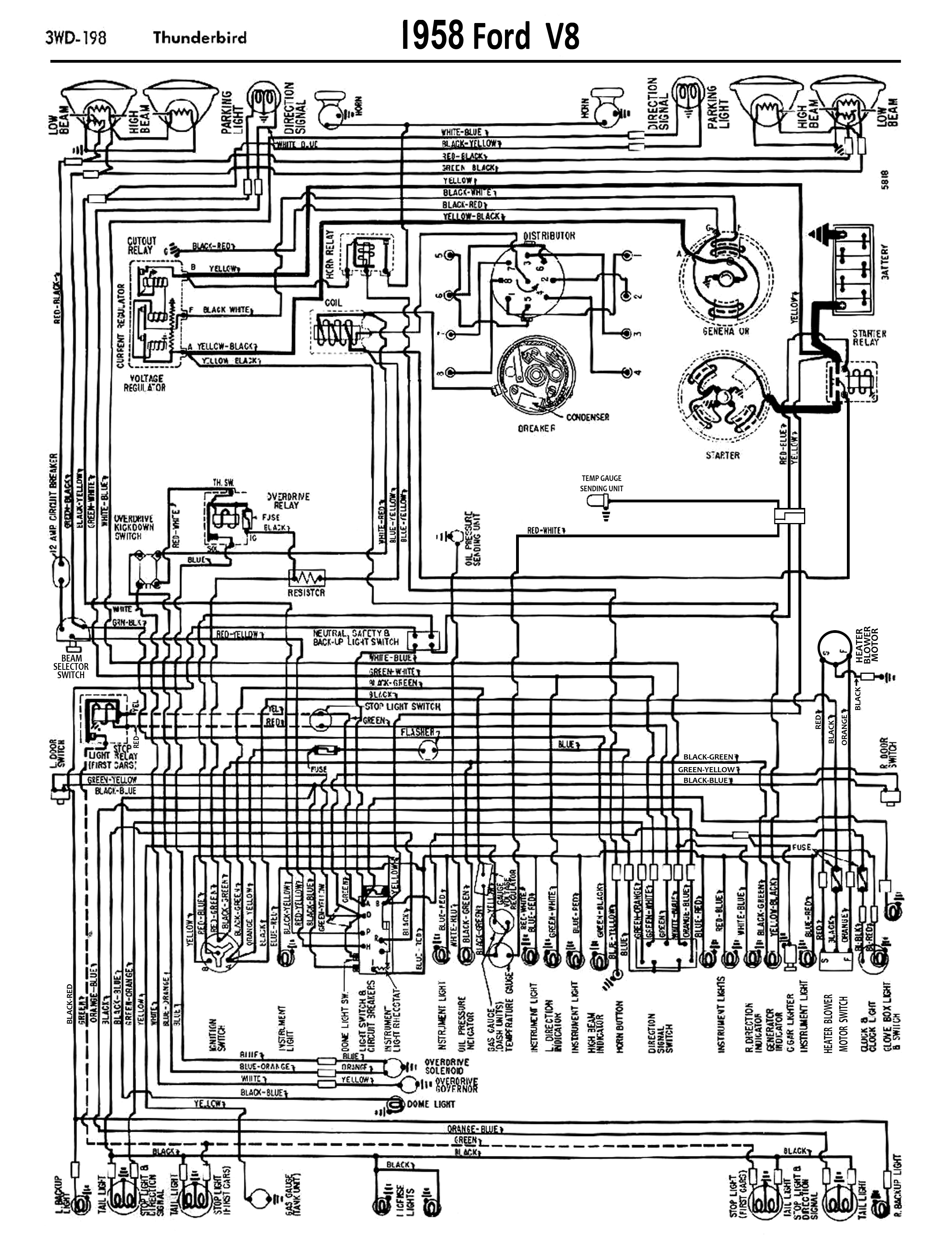 1958 68 Ford Electrical Schematics Dodge Wiring Diagram 1