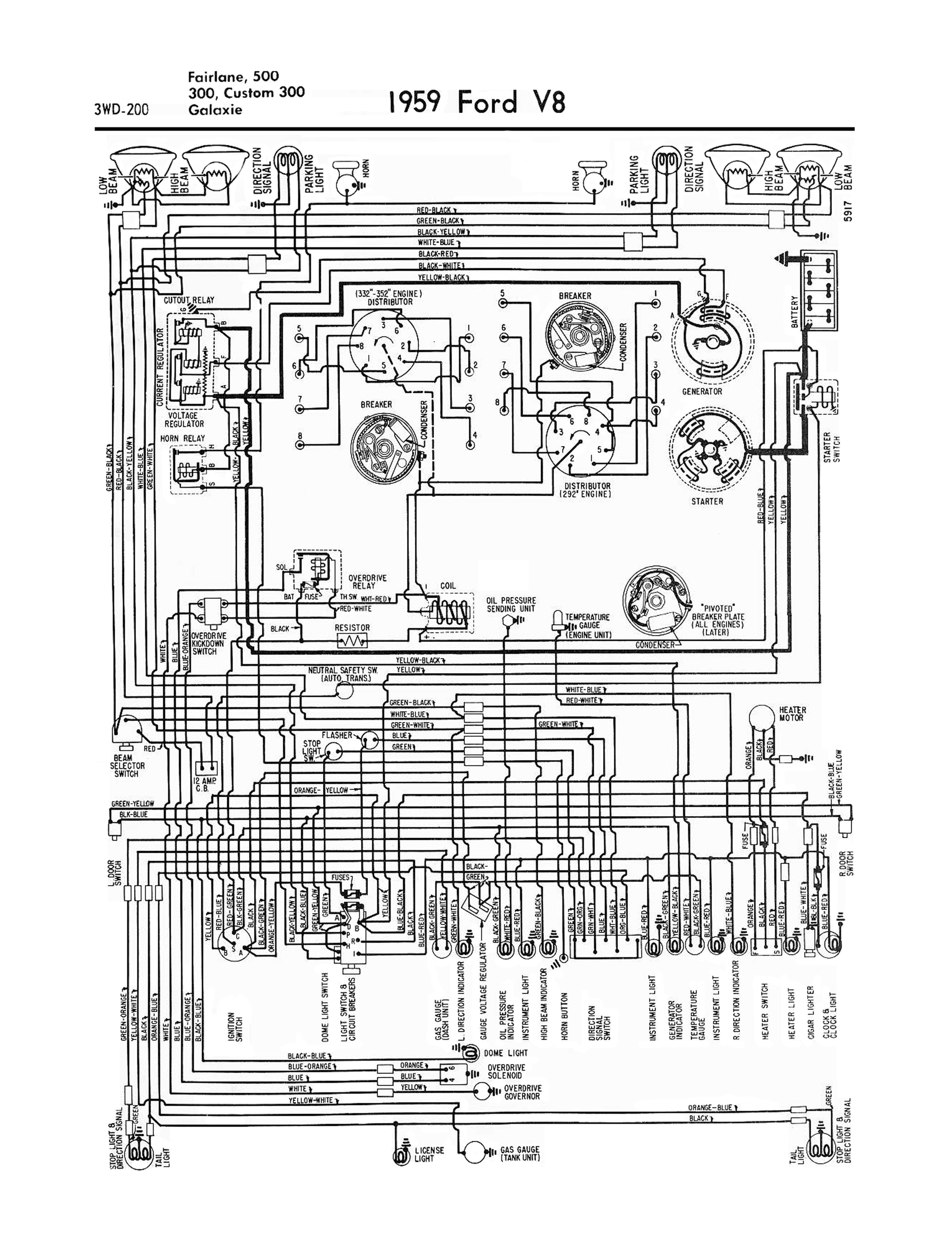 1958 plymouth wiring diagram 1958 ford wiring diagram 1958-68 ford electrical schematics