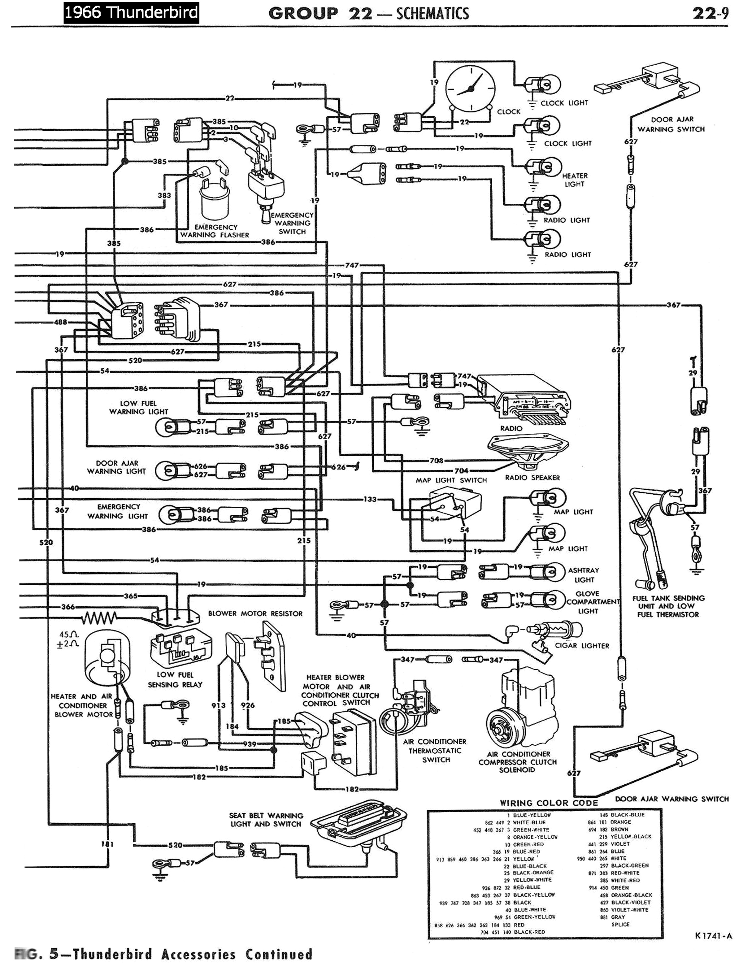1958 68 ford electrical schematics 1987 ford thunderbird wiring diagram 1957 thunderbird power window wiring diagram #21