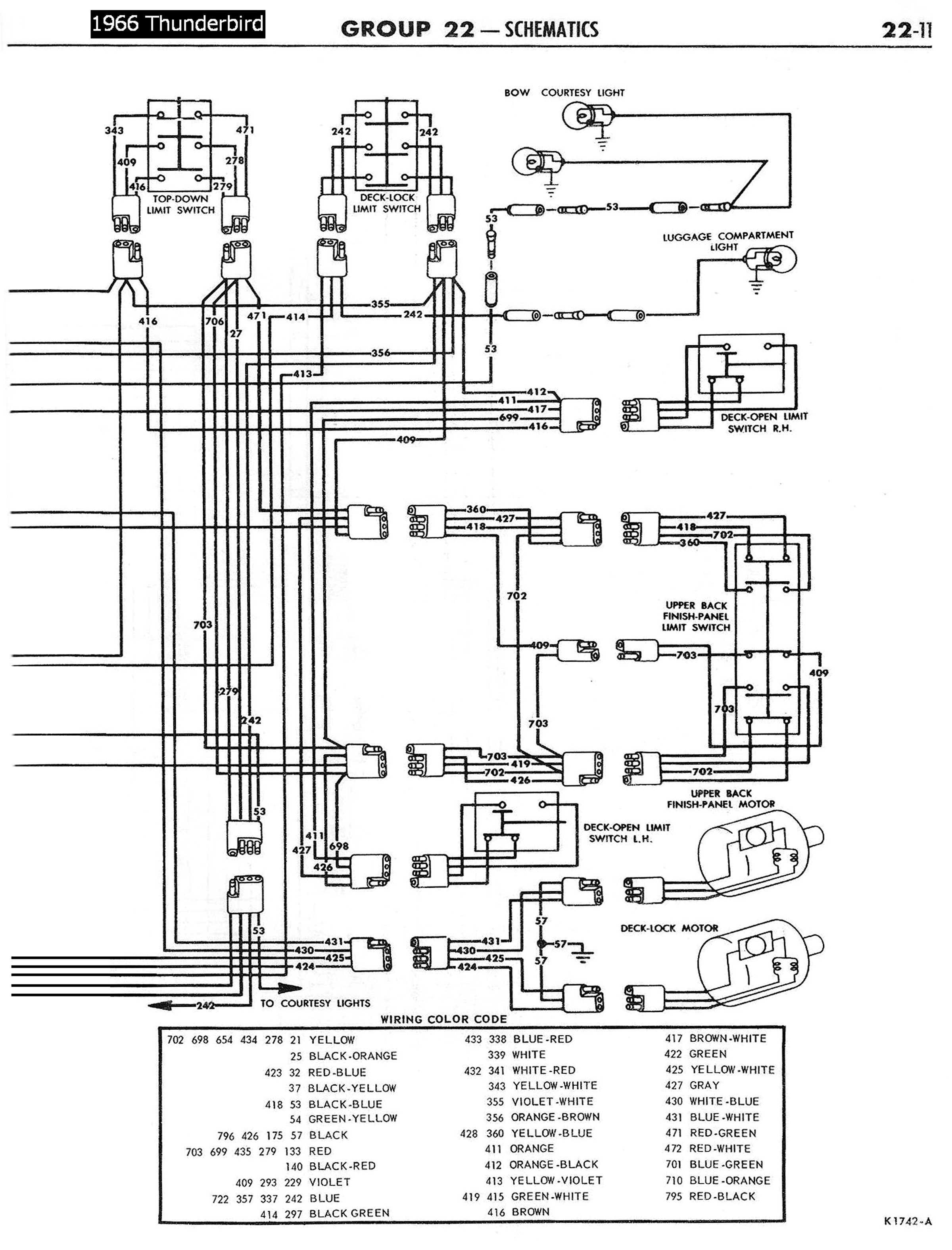 65 t bird wiring diagram 1958 68 ford electrical schematics  1958 68 ford electrical schematics