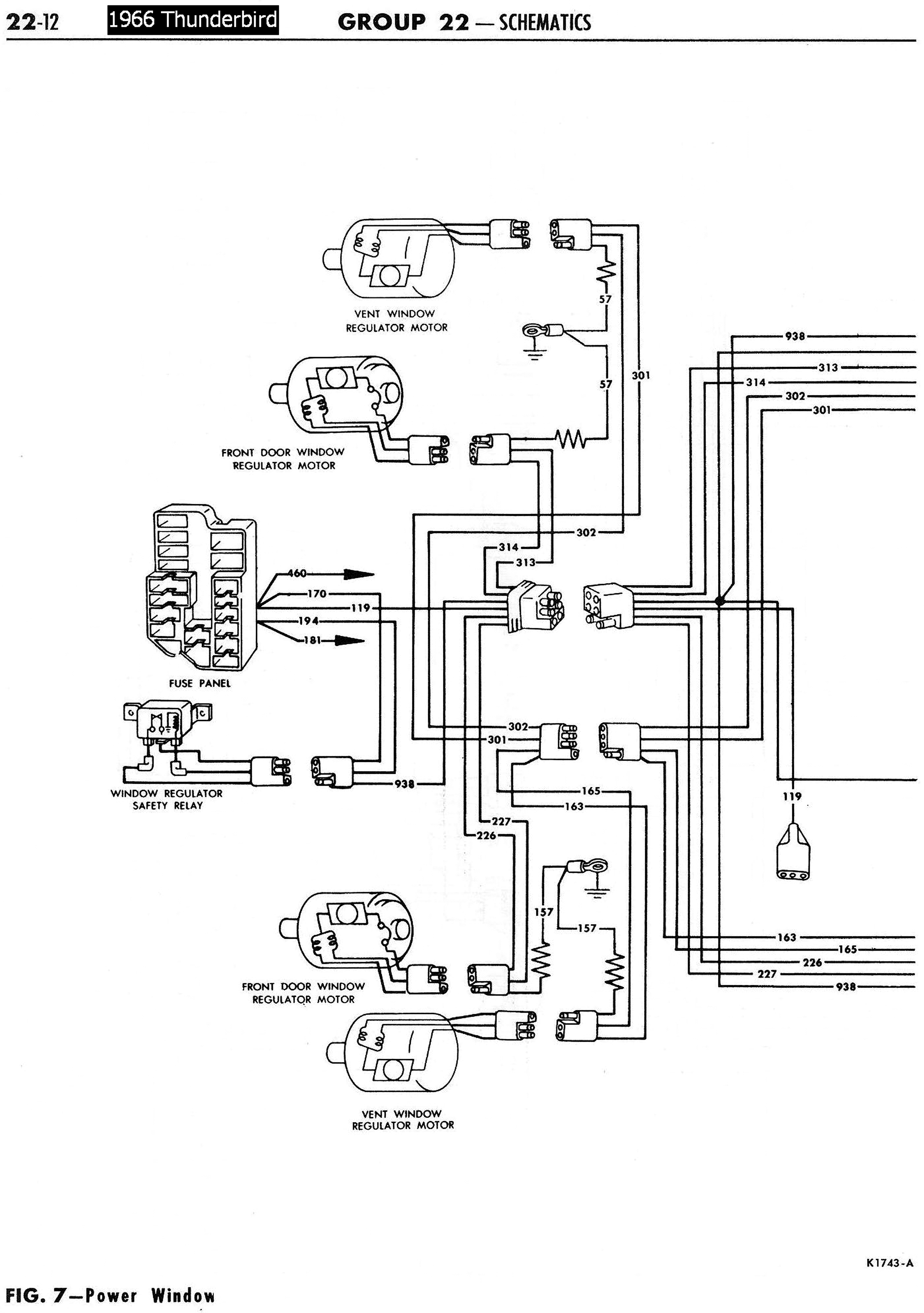 66TbirdPowerWindowsSchematicLeft 1958 68 ford electrical schematics 1955 thunderbird wiring diagram at crackthecode.co