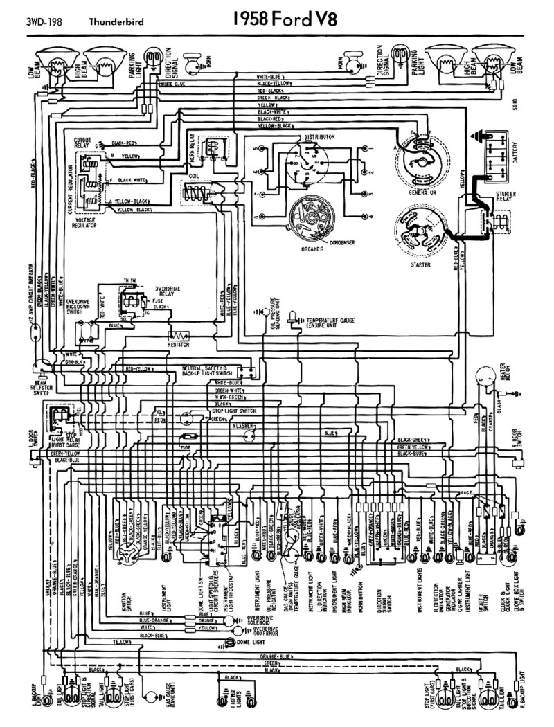 1958 ford wiring diagram 1958-68 ford electrical schematics