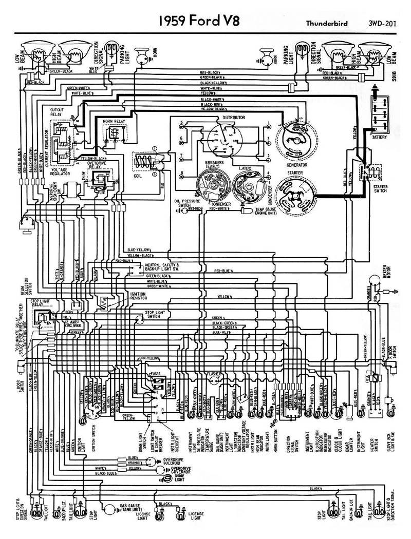 1958 oldsmobile wiring diagram 1958-68 ford electrical schematics 1958 ford wiring diagram #15