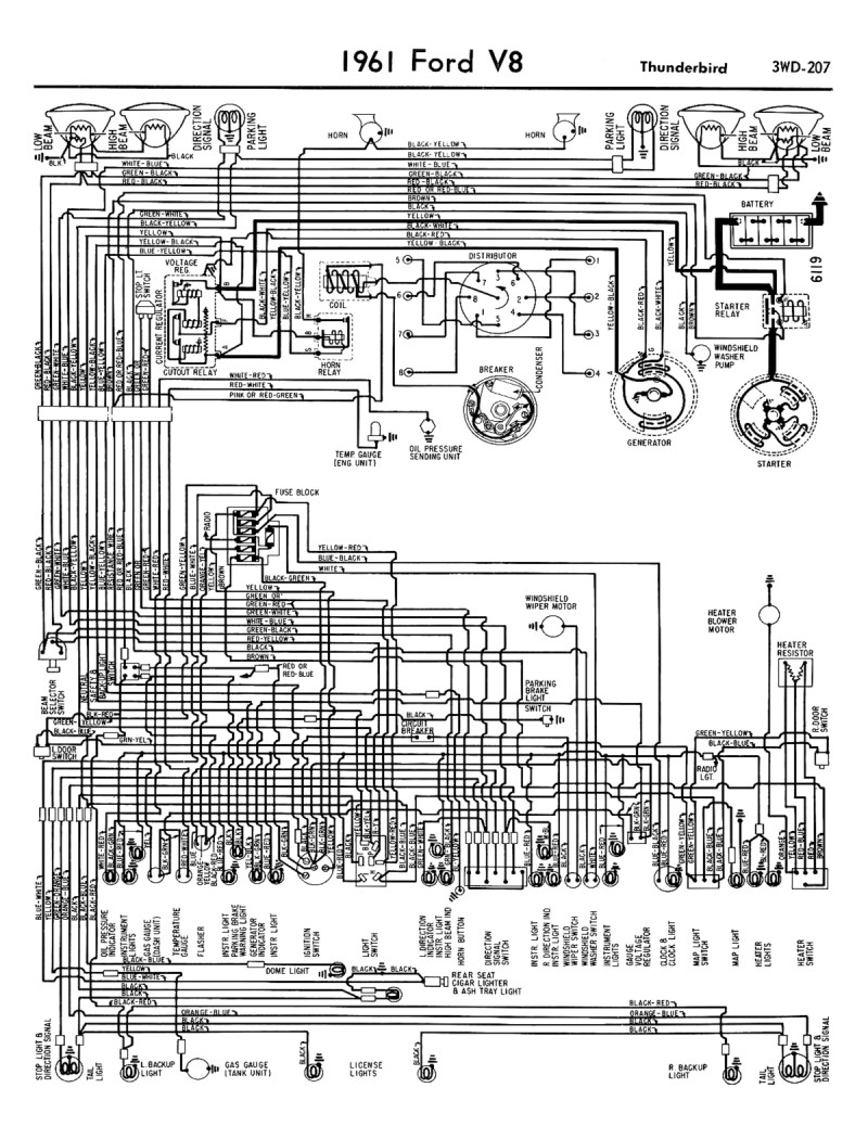 56 ford wiring diagram ac 1958-68 ford electrical schematics 56 pontiac wiring diagram #8