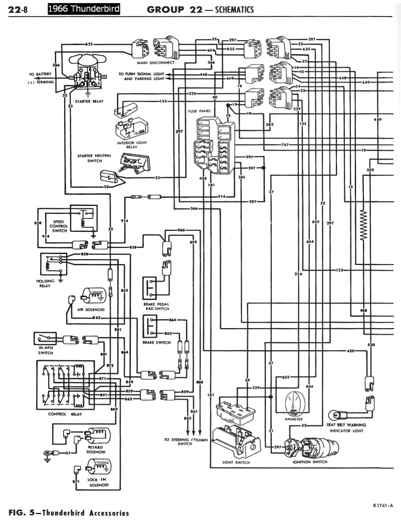 Tbirdaccessoriesschematicleft on Ford Wiring Schematic