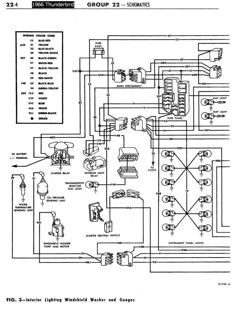 1972 ford thunderbird wiring diagram 1958-68 ford electrical schematics