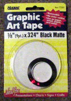 diameter graphic art tape
