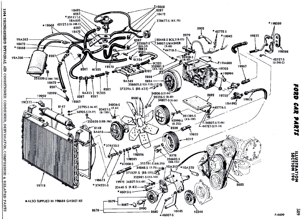 Thunderbird Technical Resource Library 1965 Ford Wiring Diagram 1964 Tbird Mpc Ac Parts Break Out