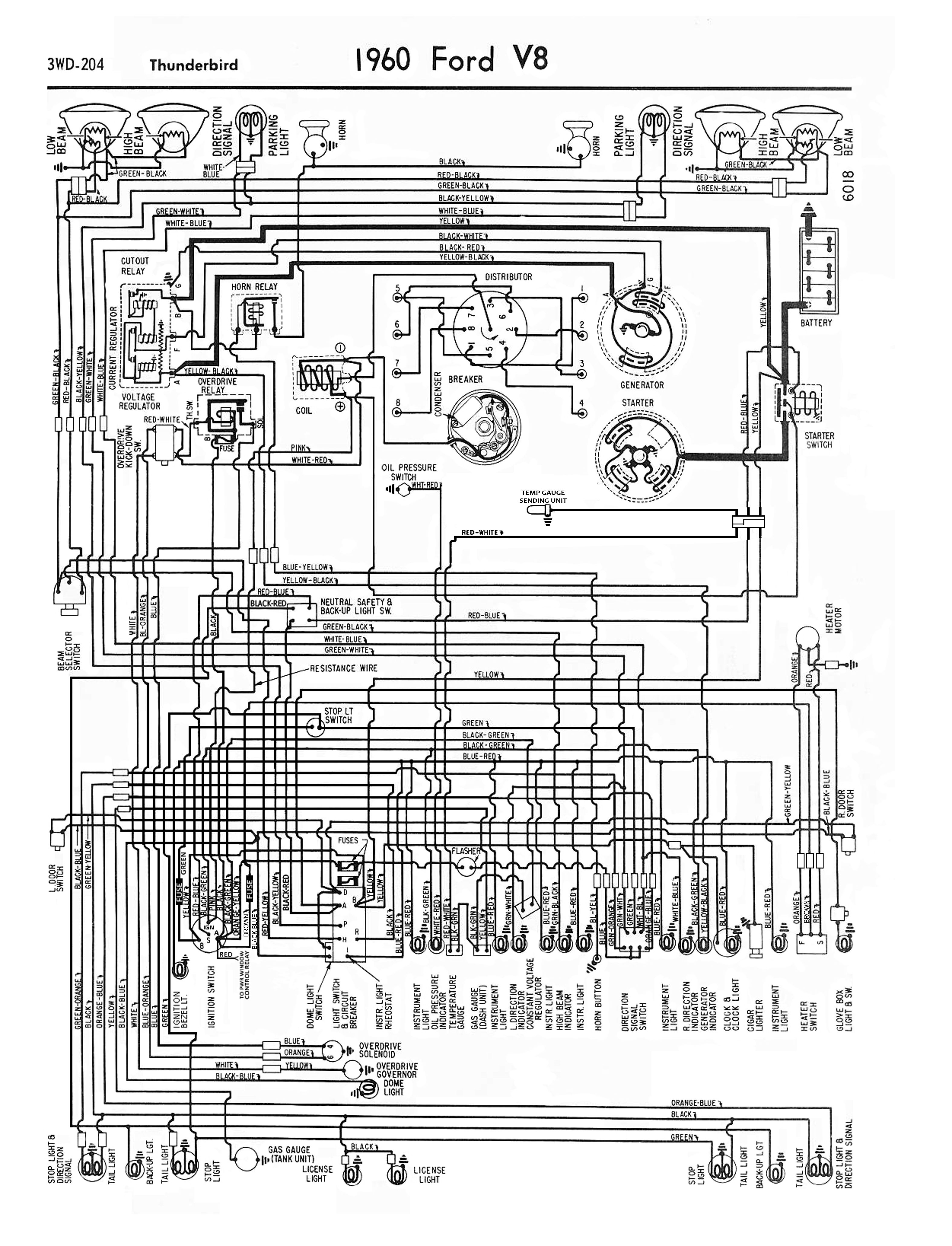 1958 68 Ford Electrical Schematics