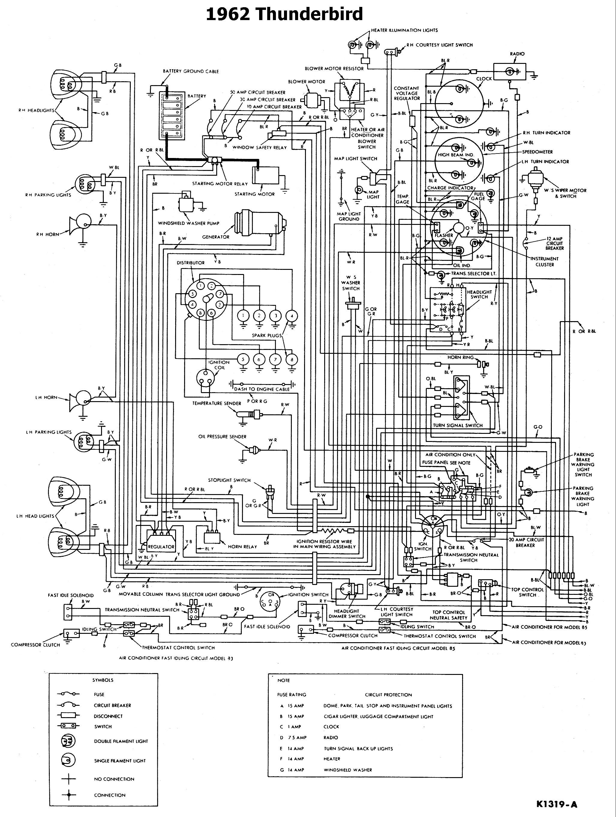1962 Thunderbird Wiring Diagram Opinions About 1964 Ford Ac I Replaced The Generator With An Alternator In A T Bird Fuel Gauge And Temp Are F 250 Circuit